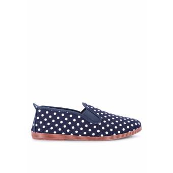 Giày Lười Flossy Gallur (Xanh Navy Chấm Bi)