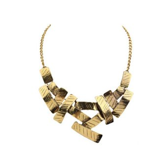 Necklaces Geometric mosaic Necklace metallic all-match temperament box necklace - intl