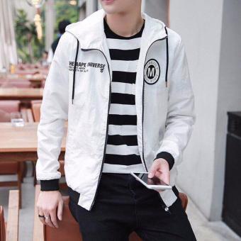 Áo hoodie nam - áo dù nam-áo khoác dù nam- áo khoác dù nam giá rẻ- M dù nón (tr)
