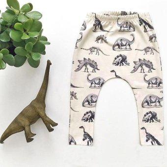 Toddler Kid Boy Dinosaurs Print Elasticity Long Pants Lovely Harem Trousers - intl
