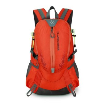 Fashion Waterproof Outdoor Sports Shoulder Bag Travel Backpack (Orange) - intl