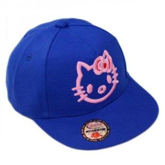 Nón Snapback Blue Kitty Girl Juliecaps (Xanh Dương)