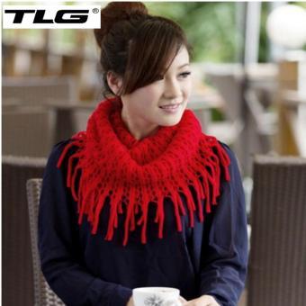 Khăn Len Nữ Dệt Kim Tua TL6312-4 (Đỏ)