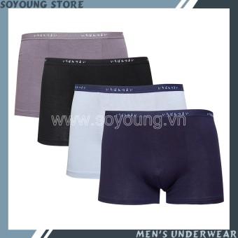 Bộ 4 Quần Lót Đùi Nam Boxer Nhật Soyoung 4DL MEN 020C