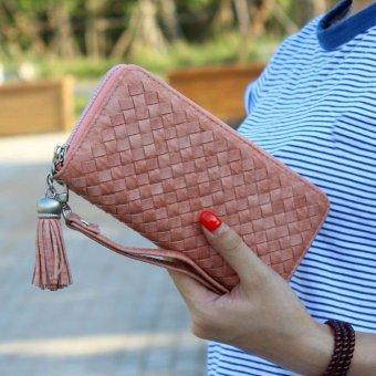 Women Zipper Long Purse Clutch Coin Phone Bag Wallet Card Holder - intl