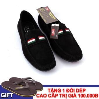 Giày lười Da Giày Việt Nam VNL8AZ08D-1 + Tặng 1 đôi dép cao cấp