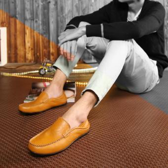 Giày Lười Nam Cao Cấp - Pettino GL01 (Nâu)