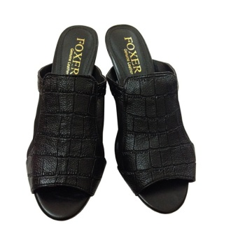 Giày Cao Gót Hở Mũi Foxer GD221019 (Đen)