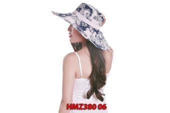 Mũ chống nắng họa tiết hoa Vành to