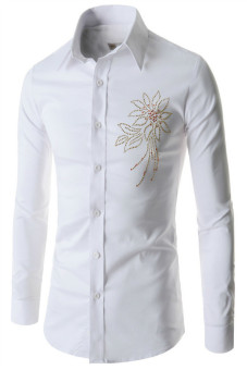 Reverieuomo CS47 Single-Breasted Shirt White - Intl