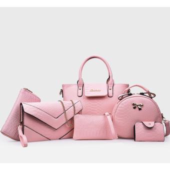 Bộ túi xách 6 món vô cùng thời trang và sang trọng 112 (Hồng)