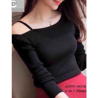 Áo gan kiểu nữ hở vai LyLyFashion (ĐEN)