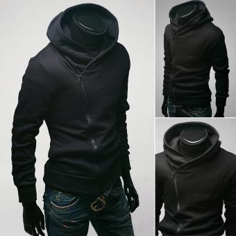 Men's Casual Slim Fit Zipper Jacket Black - Intl - intl