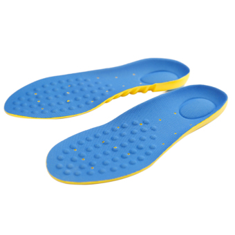 1 Pair Man's Foot Orthotic Arch Support Massaging Insole (Blue)