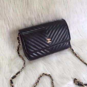Túi đeo vai mini Katun (vân chéo đen)