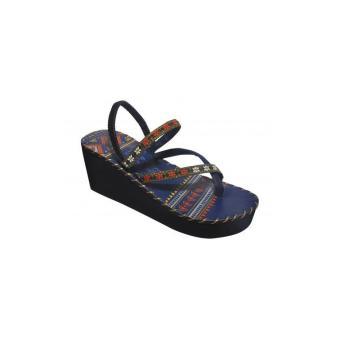 Sandal thổ cẩm cao gót (Tím) TFH8533 #37