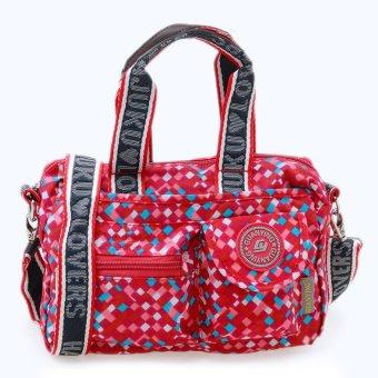 Túi xách thời trang đa năng (cam caro vuông)