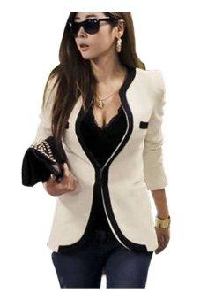 Women's Slim Suit Coat Jacket (White) - Intl