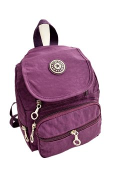 Nylon leisure Backpack (Purple)