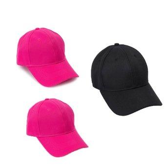 Bộ 2 mũ lưỡi trai trơn cá tính My Style GT 247 (2 hồng+ 1 Đen)