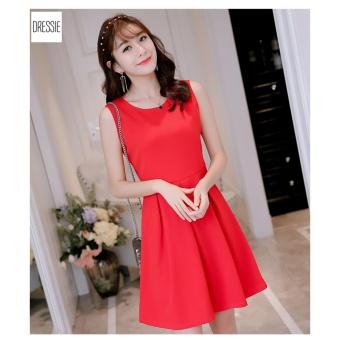 Váy Đầm Dạo Phố Đẹp Trẻ Trung Dễ Thương DRESSIE - DX0738B (Đỏ)