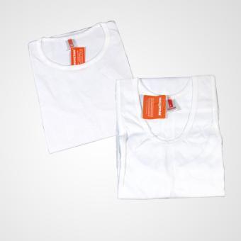Bộ 1 áo cộc tay và 1 áo 3 lỗ thời trang thoáng mát (trắng)