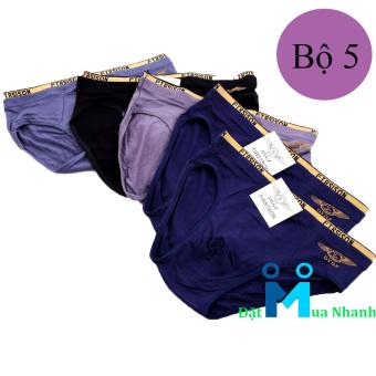 Bộ 5 quần lót nam FIRST SON siêu mịn F06