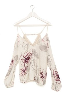 Free People Adelia Printed Blouse (Multi)