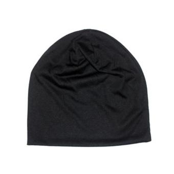 Fancyqube Candy Colored Man Korean Sleeve Head Cap Hip Hop Cap Black