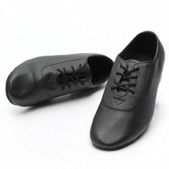 Men Kid Boy Leather Mid Heel Latin Tango Dance Shoes Jazz Salsa Waltz Ballroom - Intl
