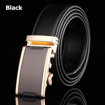 Lan-store Premium Quality Men Belts Genuine Leather Belts (Black) - intl