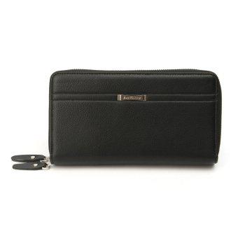Men Business Leather Clutch Long Wallet Purse Credit Card Holder Coin Phone Bag Black - intl