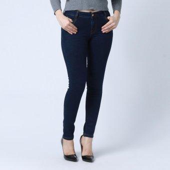 Quần jean lưng cao ống đứng cao cấp Zahra DND001 (Xanh đen)