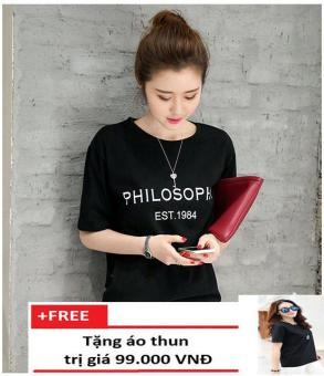 Áo Thun Philosophy Form Rộng K86 + Tặng 1 Áo Thun Trơn Trần Doanh