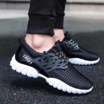 Giày Sneaker thể thao nam Sportmax SMG5208BW - Đen Trắng