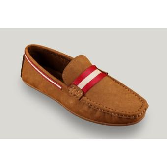 Giày lười Laforce viền đỏ trắng GNLA20375-6-V