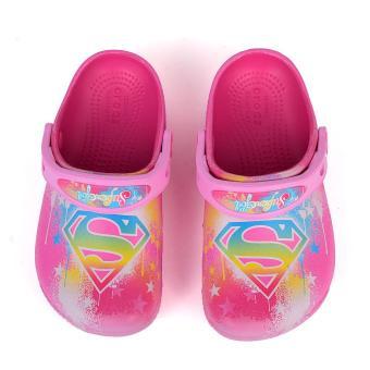 Giày lười bé nữ CrocsFunLab Supergirl Cdy Pink 204263-6X0 (Hồng)