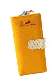 Zip Bag Long Clutch Wallet (Yellow)