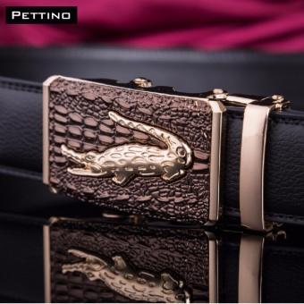 Thắt Lưng Cá Sấu Cao Cấp - Pettino TN-01 (nâu)
