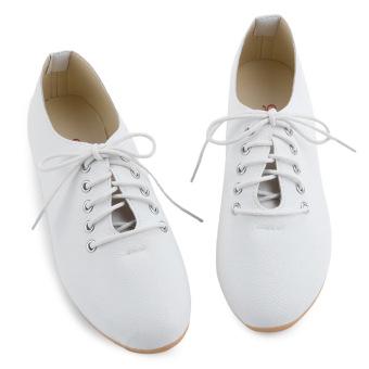 Lady Flat Casual Canvas Shoes Nursers Footwear (White) - intl