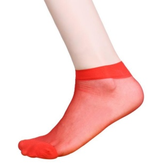 10 Pairs Ultra-thin Elastic Silky Short Silk Stockings Women Ankle Socks RD - intl