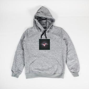 Áo khoác hoodie nam in hình Music Sound Everyday (xám nhạt)