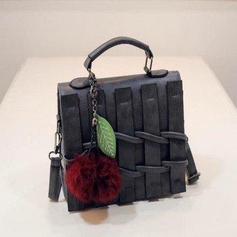 Túi hàng rào cao cấp kèm bông thời trang T6868-10-210 (Xám)