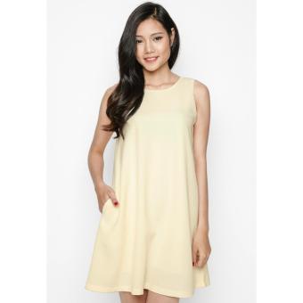 Đầm Bầu Màu Vàng Nhạt