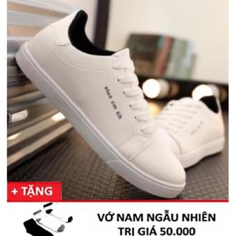 Giày casual nam ROZALO RMG5638W-Trắng tặng 1 đôi tất
