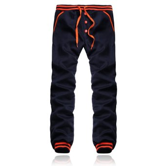 PODOM Men Harem Casual Baggy HipHop Dance Jogger Gym Sweat Pants Trousers Slacks Navy - Intl