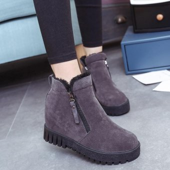 Women Fashion Ankle Boots Flats Casual Shoes Warm Suede Shoes - intl