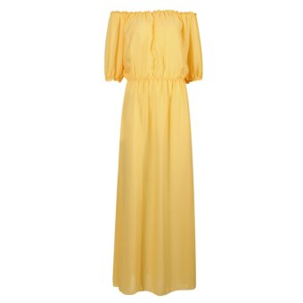 Women Summer Beach Bohemian Long Dress (Yellow) - intl
