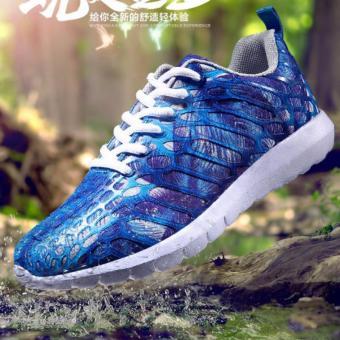 Giày thể thao huỳnh quang HQ màu xanh 36 -AL