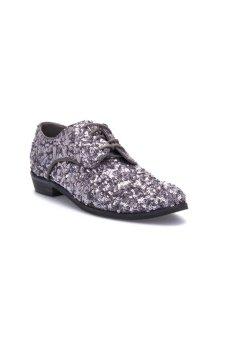 Giày cột dây lấp lánh Compañía Fantastica FA14LIF01A (Bạc)